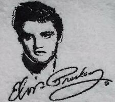 Personalised Flannel, Face Cloth, Wash Cloth embroidered Elvis