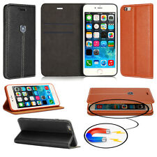 Luxury Magnetic Slim Leather Flip Wallet Stand Book Case Cover For Mobile Phones
