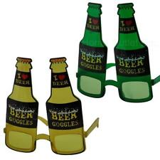 I  3 Love Beer Goggles Glasses Bottle Heart Novelty Funny Costume Party Favors