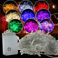 10M 20M 100/200LED Christmas Fairy String Lights Xmas Lamps Waterproof Garden
