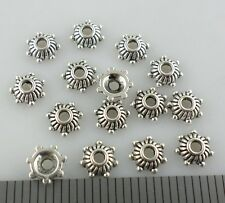 60/300/2000pcs Tibetan Silver Flower End Bead Caps Crafts Jewelry Findings 5mm