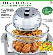 Big Boss NO Oil-Less Fryer Chicken French Fries Fry Without Oil 16-Quart 1300W