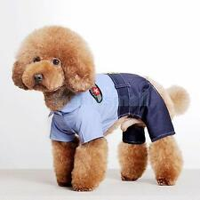 Pet Dog Puppy UNIFORM Coat Clothes Clothing Apparel Size S/XL