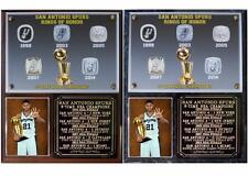 San Antonio Spurs 5-Time NBA Champions Photo Plaque Tim Duncan Tony Parker