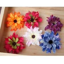 20x Artificial Silk Daisy Flower Heads Appliques Craft Shoes Sandals Accessories