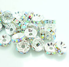 100PCS Czech Crystal Rhinestone Rondelle Spacer Beads DIY 4mm~10mm HOT