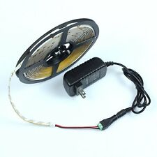 12V 5M 60L/M SMD 3528 LED Flexible Strip Light IP20 Female Power Plug 2A Adapter
