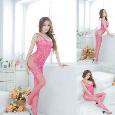 Lady Charming Sexy Open Crotch Stockings Crotchless Fishnet Sheer Body Lingerie