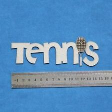 Chipboard Laser Cut Embellishment Tennis Words