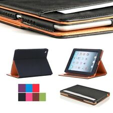Folio Soft Leather Wallet Smart Case Cover Sleep / Wake Stand for All APPLE iPad