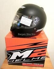 M2R MOTORCYCLE HELMET NEW MATT BLACK  Med Lg XL Road M1 Motorbike