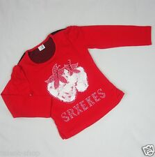 Girls Red Strawberry Crew Neck Tops Long Sleeve T-shirt Age 3-4-5-6-7-8 Years