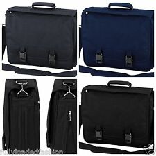 New Briefcase College School Business Messenger Work Bag Satchel Black blue grey