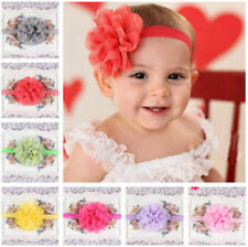 Smart Lovely Little Babies Girls Flower Hair Band Elastic Headbands For Gifts sf