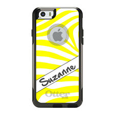 Monogram OtterBox Commuter for iPhone 5S 6 6S Plus Yellow White Grey Zebra
