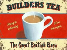 New Builder's Tea The Great British Brew Metal Tin Sign