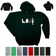 Love Guns Sweatshirt Gun Rights Political Hoodie Cute Gift Crewneck Sweater AR15