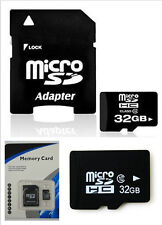New~32GB Micro SD Card TF Flash Memory MicroSD Micro SD HC Class 10 Free Adapter