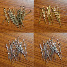 100/200x Straight Head Pins 35mm Silver Golden Findings 21 Gauge SDE