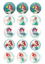 Ariel The Little Mermaid Customised Edible REAL Icing Image Birthday Cake Topper
