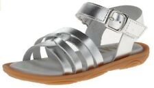 Umi Toddler Girls Cora Casual Open Toe Leather Sandal Shoes Silver 33432