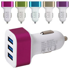Triple USB Universal Car Charger Adapter 1A 2.1A 1A For iPhone Ipad Samsung HTC