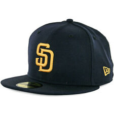 New Era 59Fifty San Diego Padres Fitted Hat (Dark Navy/Gold) Men's Wool Cap