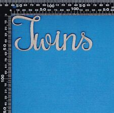Chipboard Laser Cut Embellishment Twins Word Variations
