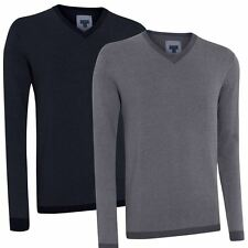 *60% OFF* Ashworth 2016 Cashmere Blend Oxford Jumper Mens V-Neck Golf Sweater
