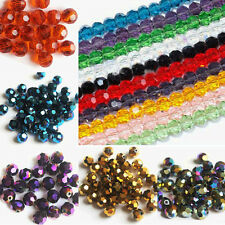 50/100/200Pcs Czech Glass Faceted Round Loose Spacer Beads Makings 3/4/6/8mm DIY