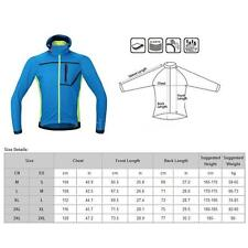Outdoor Cycling Windproof Hooded Coat Thermal Fleece Jacket Breathable XE8T