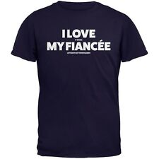 Valentines I Love My Fiancee Video Games Navy Adult T-Shirt