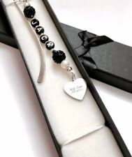 Personalised Handmade Bookmark with Gift Box. Male Gift. Choice of Charm