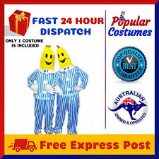 Bananas in Pyjamas Mens Womens TV Fancy Dress Unisex Yellow Adult Party Costume