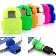 Cute Robot Micro USB Host OTG Adapter Cable For Samsung Galaxy S3 S4 Note2 Hot
