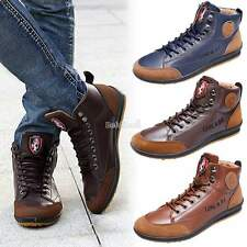 Fashion Men's Casual Sneaker Lace-up Shoes Flat Shoes Ankle Boots Trainers BE0D