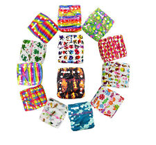 NEW baby One Size Pocket Cloth Diaper Washable Reusable  New Nappy W/ Inserts