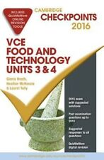 NEW Cambridge Checkpoints VCE Food Technology Units 3 and 4 2016 and Quiz Me Mor