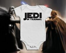 Star Wars Funny Baby Grow Bodysuit Vest Onesie | Boys / Girls | Jedi in Training