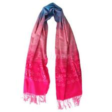 Beautiful Ethnic Flower Pashmina Cashmere Wrap Shawl Scarf Stole Hijab Colorful
