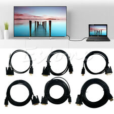 3-32ft 24+1 HD DVI-D Male to HDMI Male Cable HDMI To DVI Mutual Convert for HDTV