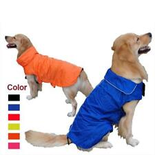 Pet Dog Waterproof Jacket Fleece Raincoat Clothes Poncho Cape XS-XXXL