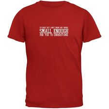 Small Enough Words Red Adult T-Shirt