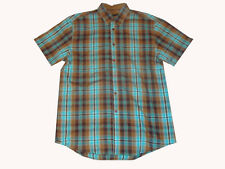 Grn Apple Tree Nice Button Up Woven Shirt Teal