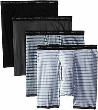 7347P4 Hanes Men's Ringer Boxer Brief with Comfort Flex Waistband 4-Pack