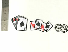 Poker Playing Cards Lady Luck Casino Sign Embroidered Iron On Patches Gambling