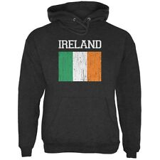 World Cup Distressed Flag Ireland Charcoal Heather Adult Hoodie