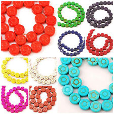 "12mm Magnesite Turquoise Flower Beads 15"" Pick your Color FOR DIY Jewelry"