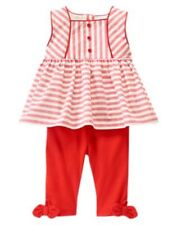 New Gymboree State Fair Day Line Striped Two-Piece Set NWT 6-12m 12-18m 18-24m