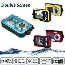 HD 1080P 24MP Double Screen 16x Zoom Underwater Digital Video Camcorder Camera